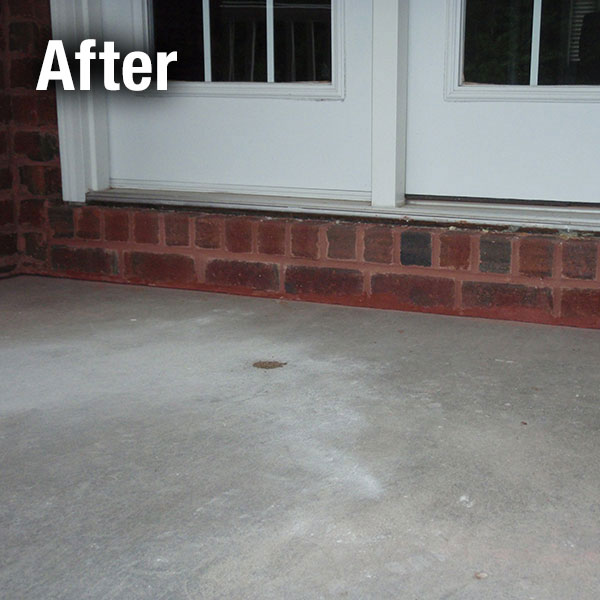 Ann Arbor Concrete Porch Leveling - After