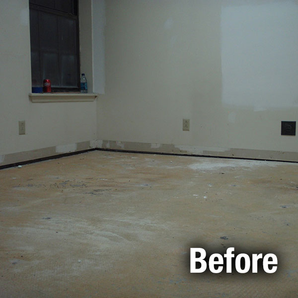 Ann Arbor​ Concrete Floor Leveling - Before