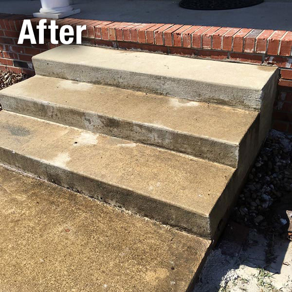 Ann Arbor​ Concrete Steps Leveling - After