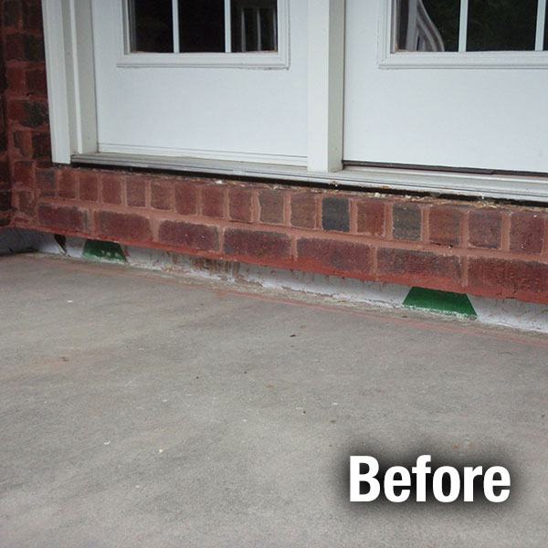 Ann Arbor Concrete Porch Leveling - Before