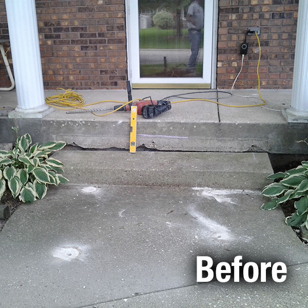 Ann Arbor Concrete Step Repair - Before